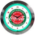 8CCGRN - Coca-Cola Evergreen Neon Clock