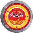 8CCWNG - Coca-Cola Wings Neon Clock
