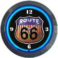 8RT66R - Route 66 Neon Clock