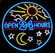 5OPENX - Open 24 Hours Neon Sign